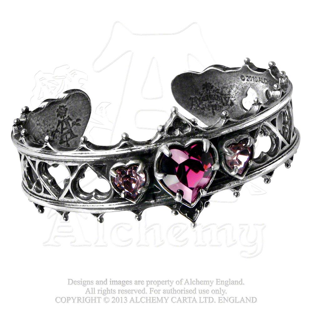 Sentinel Alchemy Elizabethan Pewter And Swarovski Crystals Bangle Bracelet