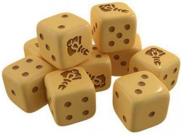 Würfelspiel Brettspiel Zaubertrick 10 Würfel 18 mm schwarz Kunststoff