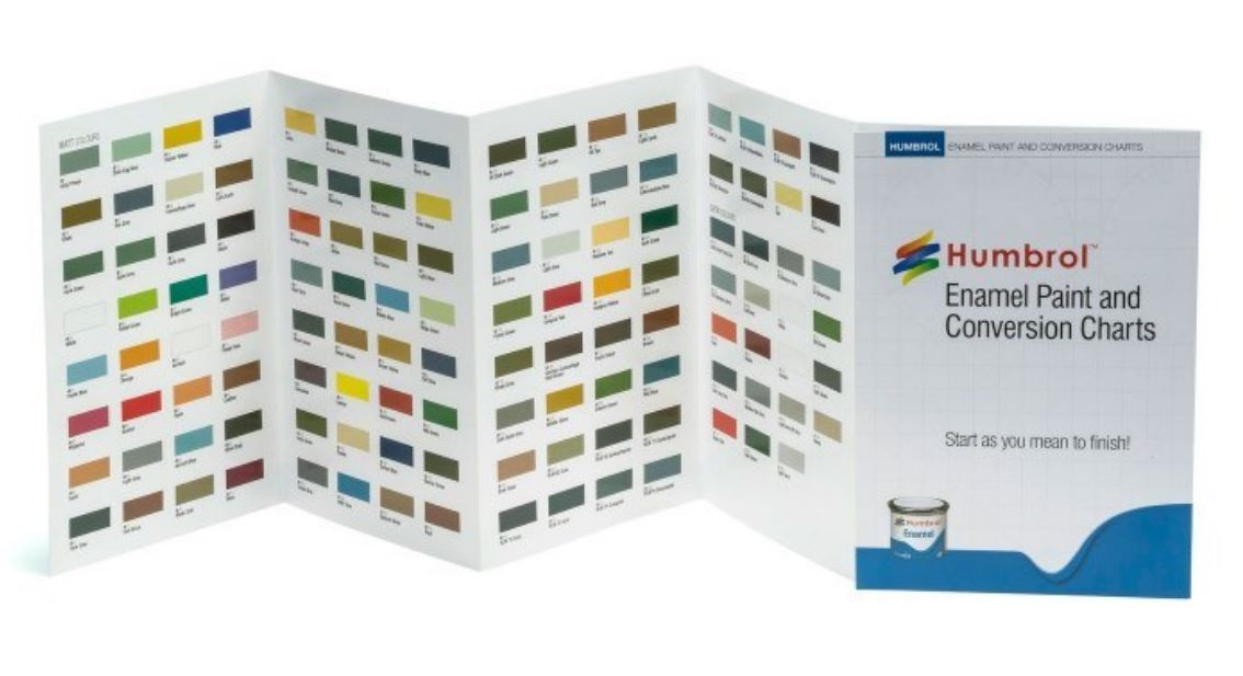 Humbrol Enamel Colour Chart With Hi Spec Printing Ebay