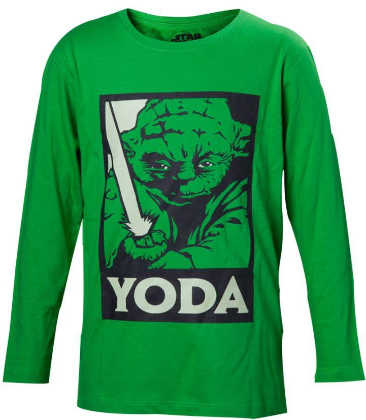 Maglietta a Manica Lunga Ragazzi Yoda Star Wars