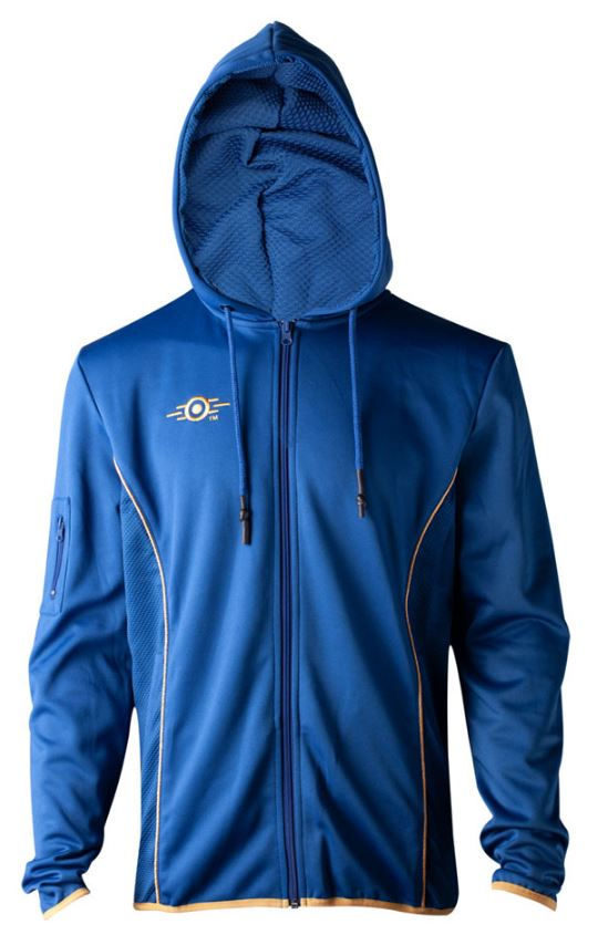 FALLOUT 76 Vault 76 TeQ Zipped Premium Hoodie Extra Large Blue//Yellow
