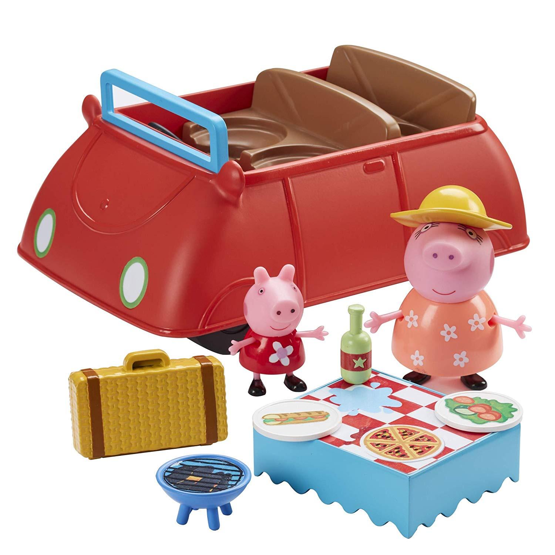 Peppa/'s Big voiture rouge avec Picnic Accessoires Kit de jeu et 2 figurines jouet NEUF