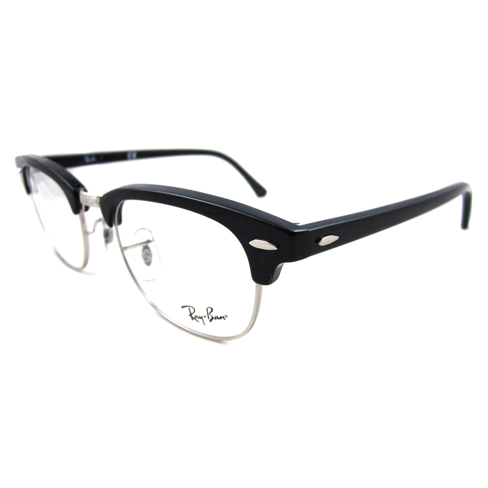 Ray-Ban Glasses Frames 5154 Clubmaster 2000 Shiny Black 49mm ...