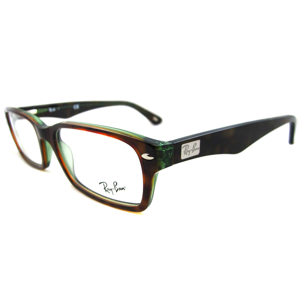 Ray-Ban Glasses Frames 5206 2445 Havana Green 805289384489 | eBay