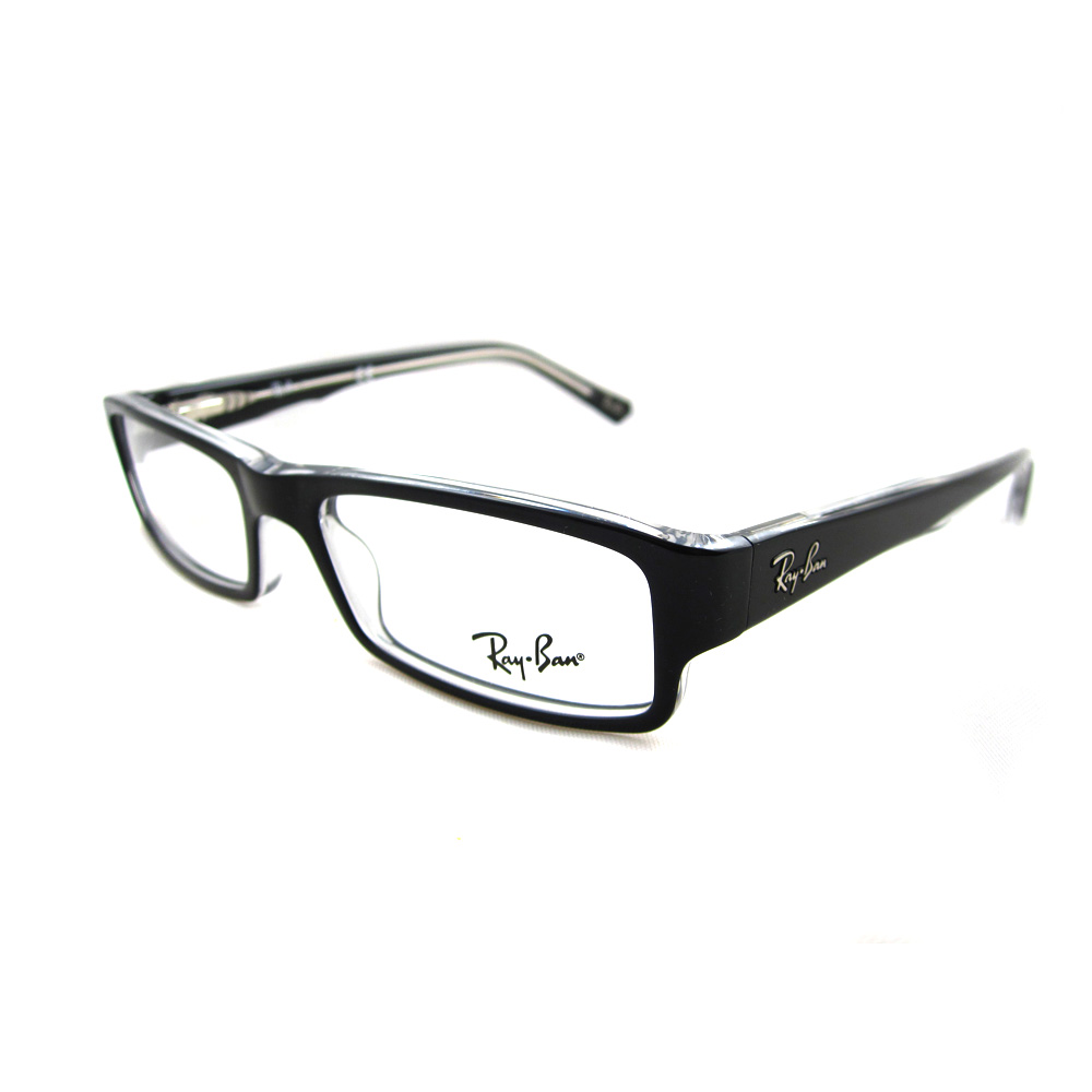a089b12802f Sentinel Ray-Ban Glasses Frames 5246 2034 Top Black On Transparent 50mm