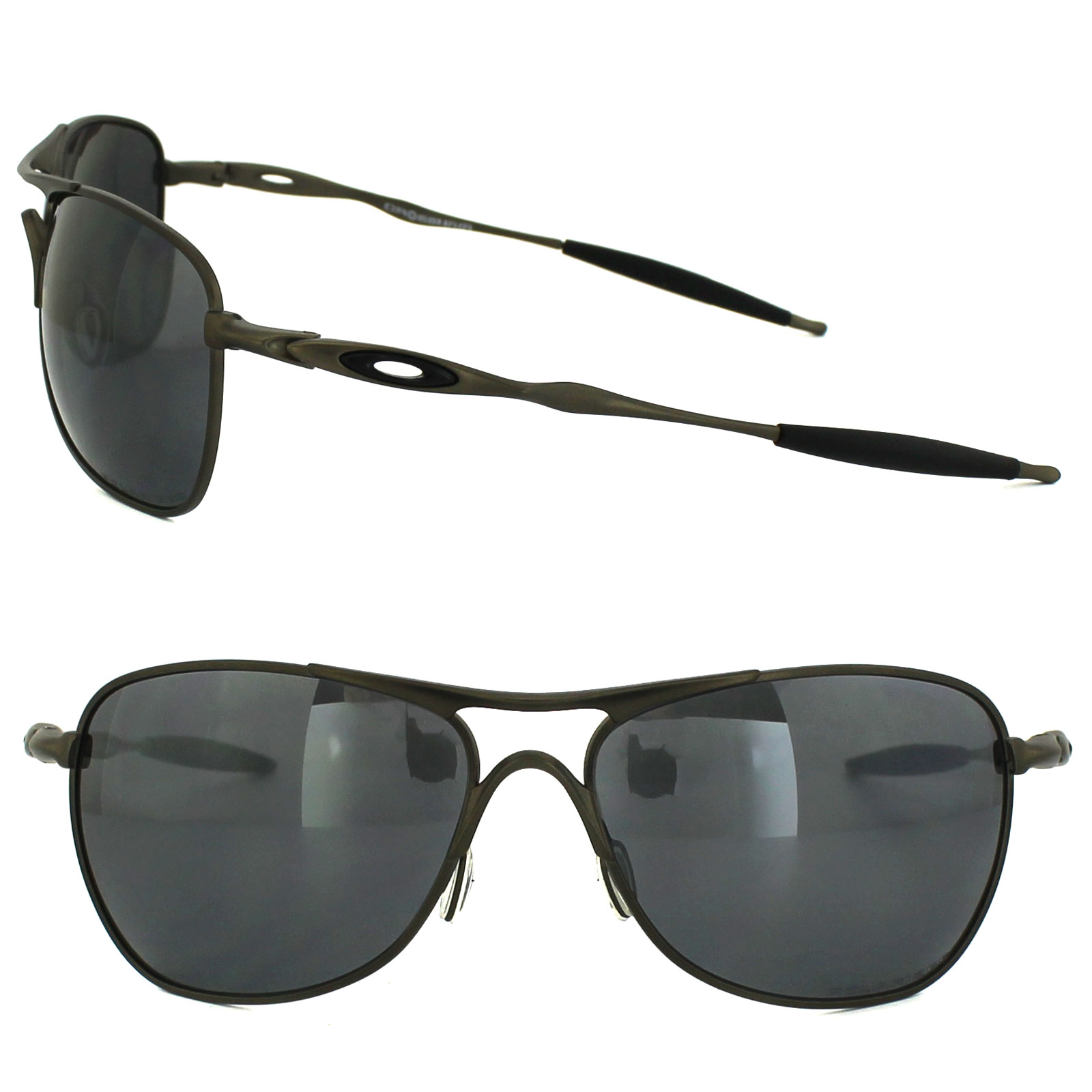 b243d42441 ... closeout sentinel oakley sunglasses ti crosshair pewter black iridium  polarized oo6014 02 df567 62dee