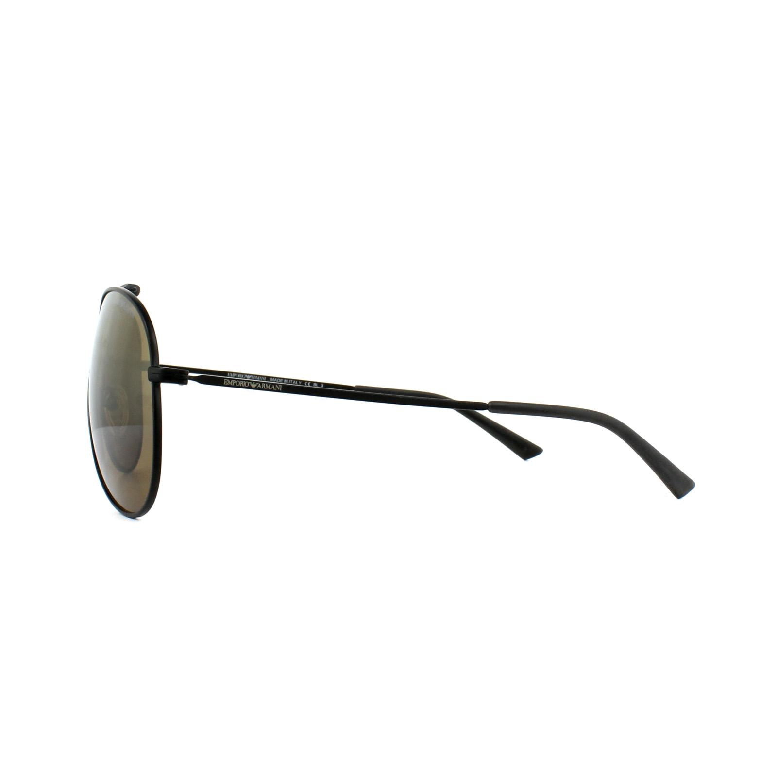 ef80fe846a48 Sentinel Emporio Armani Sunglasses 9807 003 W8 Matt Black Silver Gradient