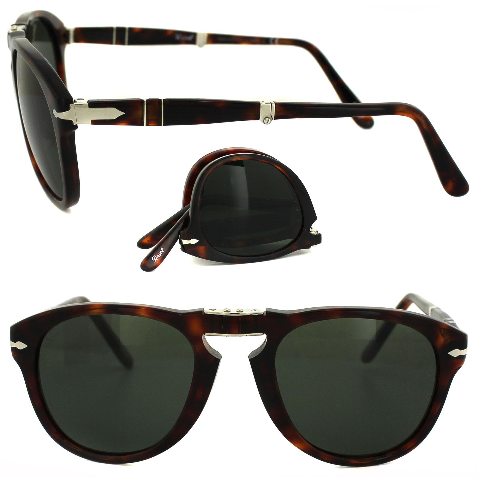 9b0c0bbac7 Sentinel Persol Sunglasses 0714 24 31 Havana Green Folding Steve McQueen  52mm