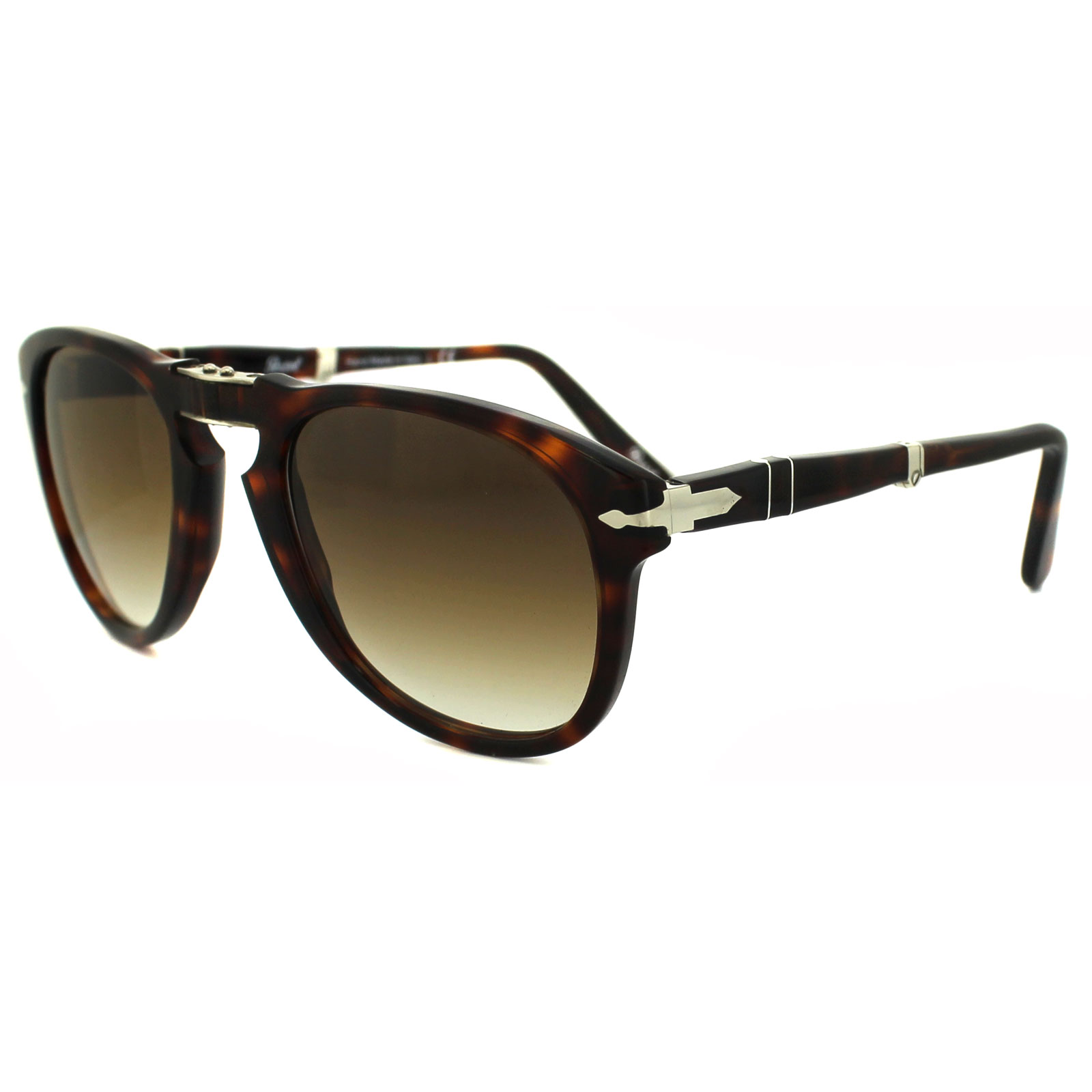 f2e89e99c6c Sentinel Persol Sunglasses 0714 24 51 Havana Brown Gradient Folding Steve  McQueen 52mm
