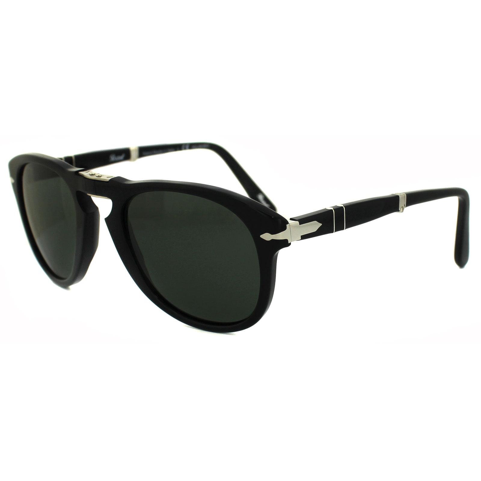 Steve Mcqueen Gafas Polarizado De Sol Verde Persol Detalles 9558 0714 Negro Plegable R4Aj5L