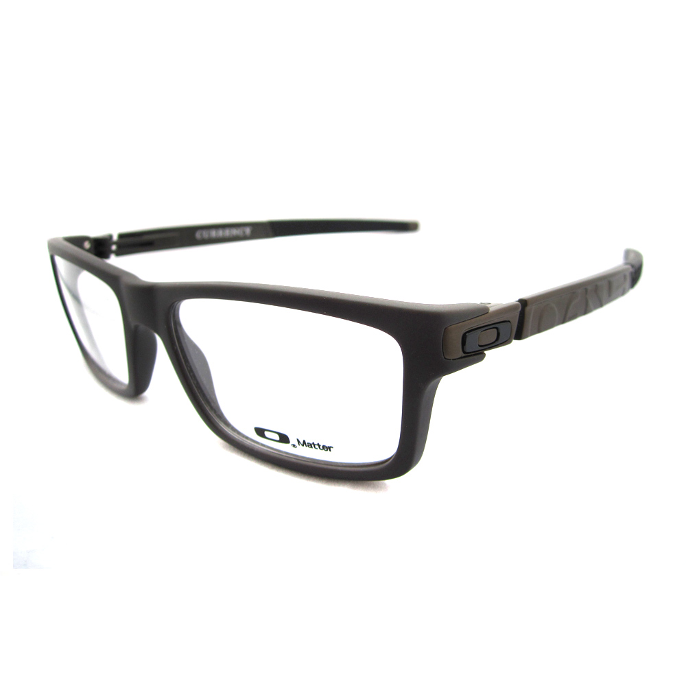 Oakley RX Glasses Prescription Frames Currency 8026-02 Flint ...