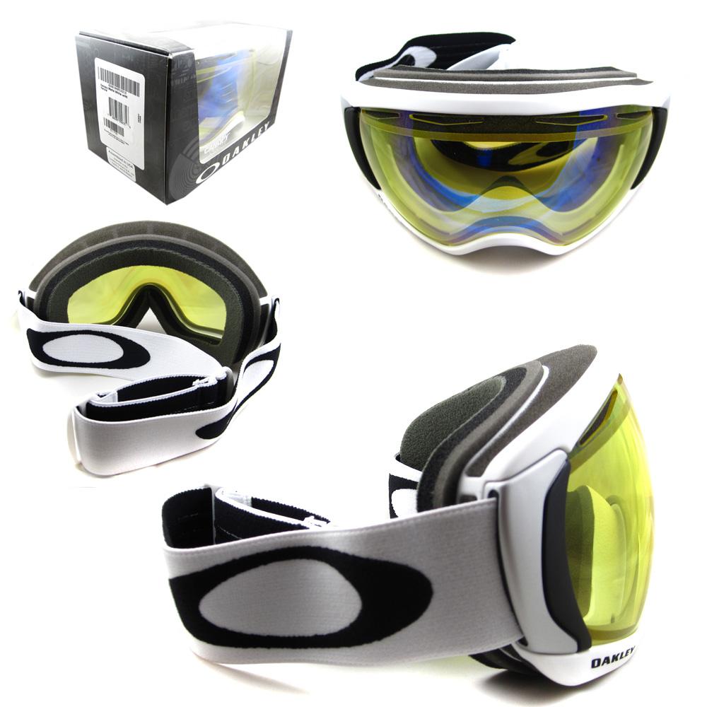 Sentinel Oakley Ski Snow Goggles Canopy Matte White Hi Yellow 57-778  sc 1 st  eBay & Oakley Ski Snow Goggles Canopy Matte White Hi Yellow 57-778 ...