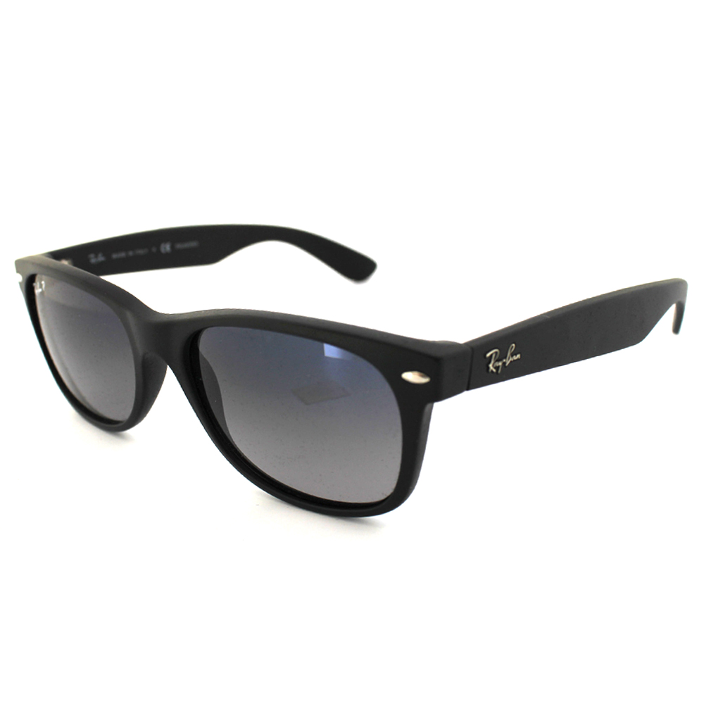 7771124ca1f Sentinel RayBan Sunglasses New Wayfarer 2132 601S 78 Matt Black Grey Blue  Mirror Polarize