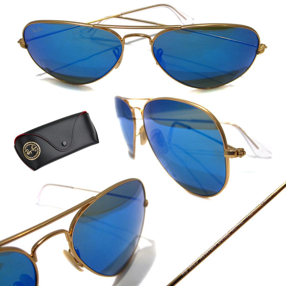 ray ban aviator spiegelglas blauw