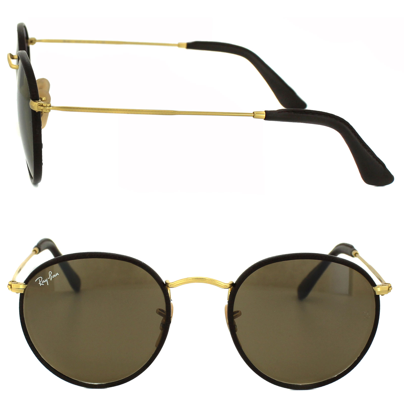 2b2299b248 RayBan Sunglasses 3475Q 112 53 Matt Gold Brown 805289751755