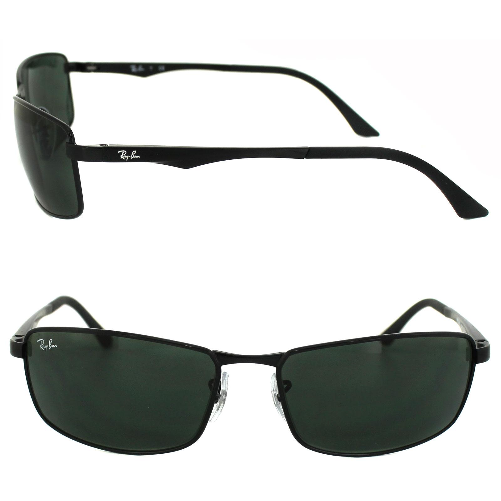 4eed2d66bc RayBan Sunglasses 3498 002 71 Black Green 713132572108