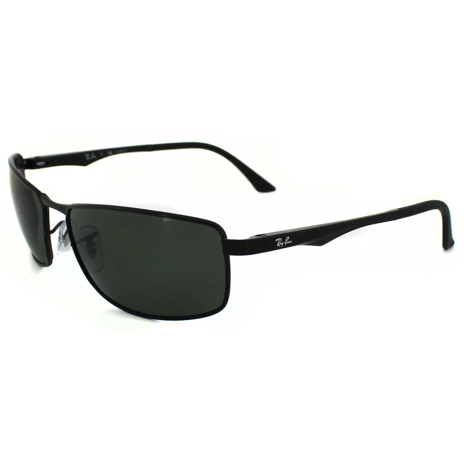 f4b02a8ffc RayBan Sunglasses 3498 002 9A Black Polarized Green 713132572146
