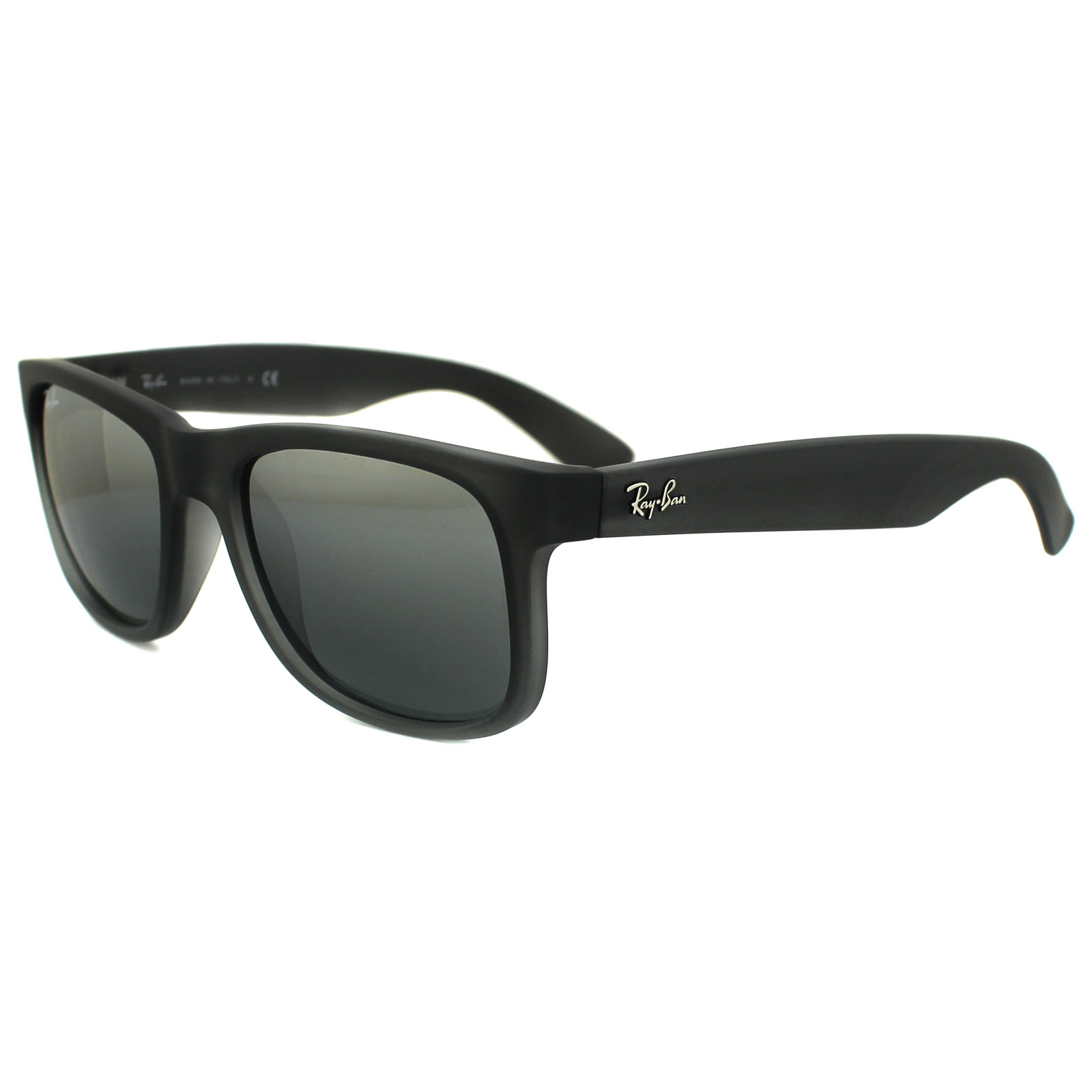 Sentinel RayBan Sunglasses Justin 4165 852 88 Rubber Grey Grey Silver  Mirror Gradient f52b293b1f