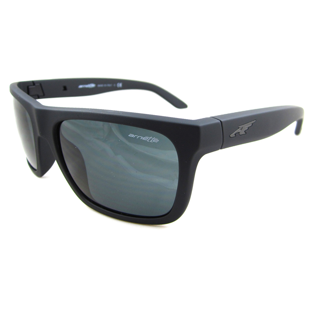 da71dc69acd Arnette Sunglasses 4176 Dropout 447 87 Fuzzy Black Grey 726770972179 ...