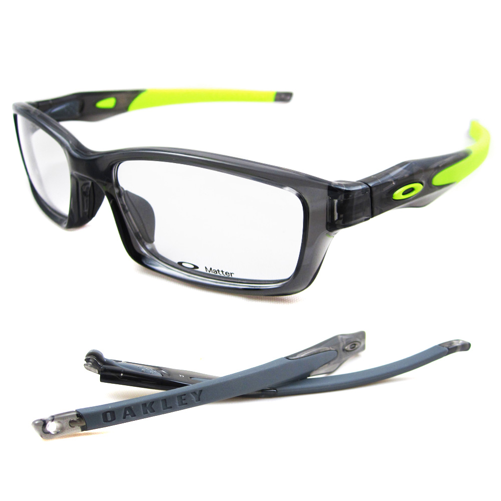 Oakley RX Glasses Frames Crosslink 8027-02 Grey Smoke 700285581958 ...