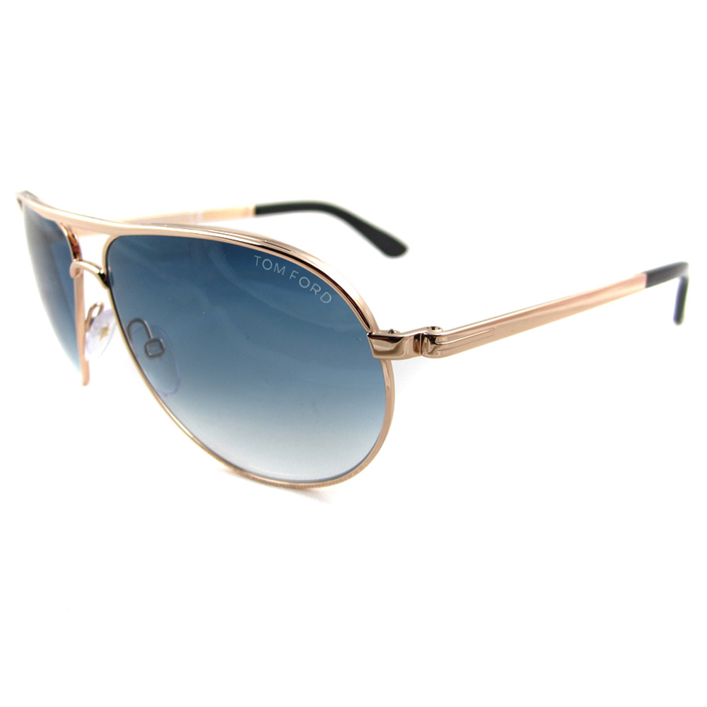 Cheap Tom Ford Sunglasses 0144 Marko 28w Gold Blue Gradient Discounted Sunglasses