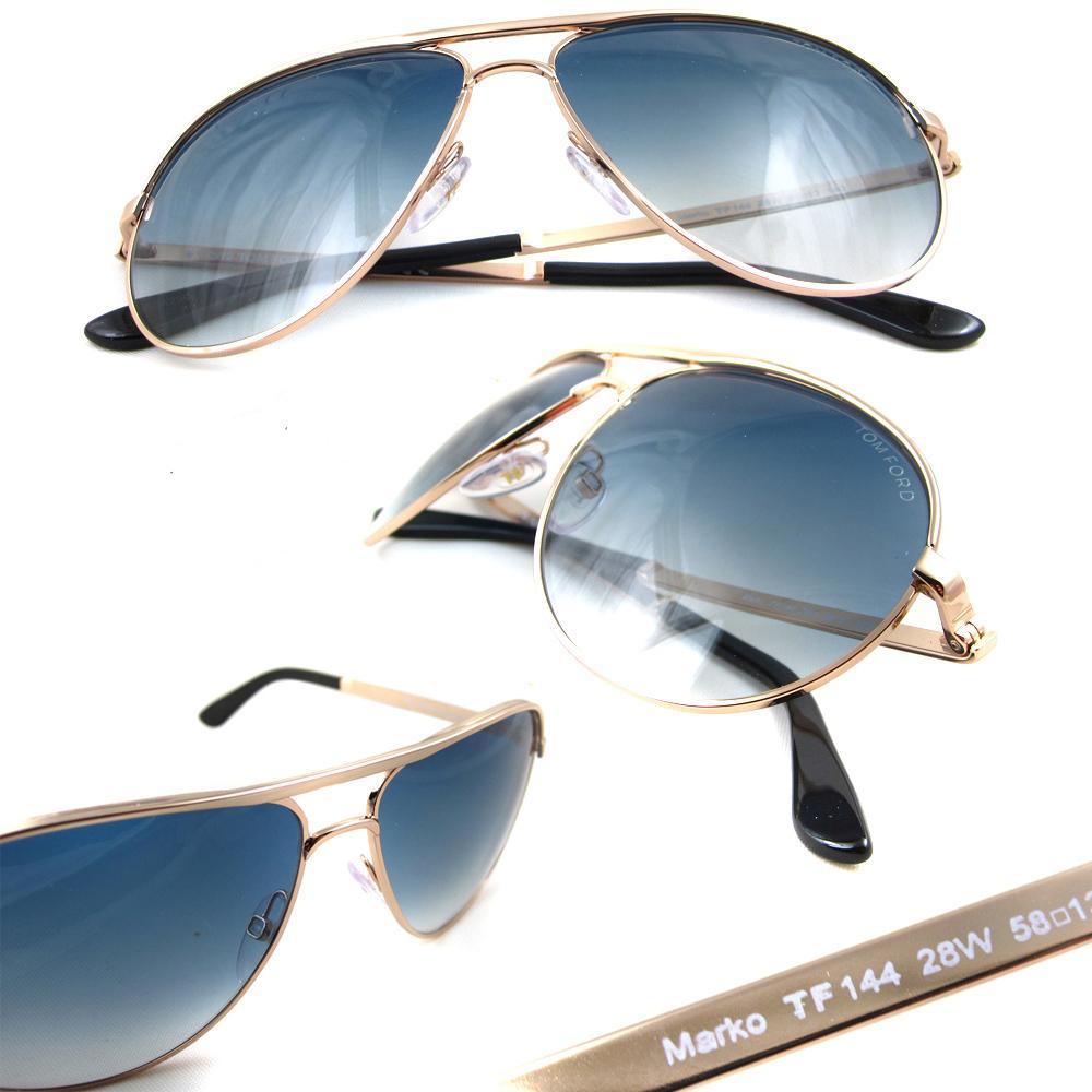 Cheap Tom Ford Sunglasses 0144 Marko 28w Gold Blue