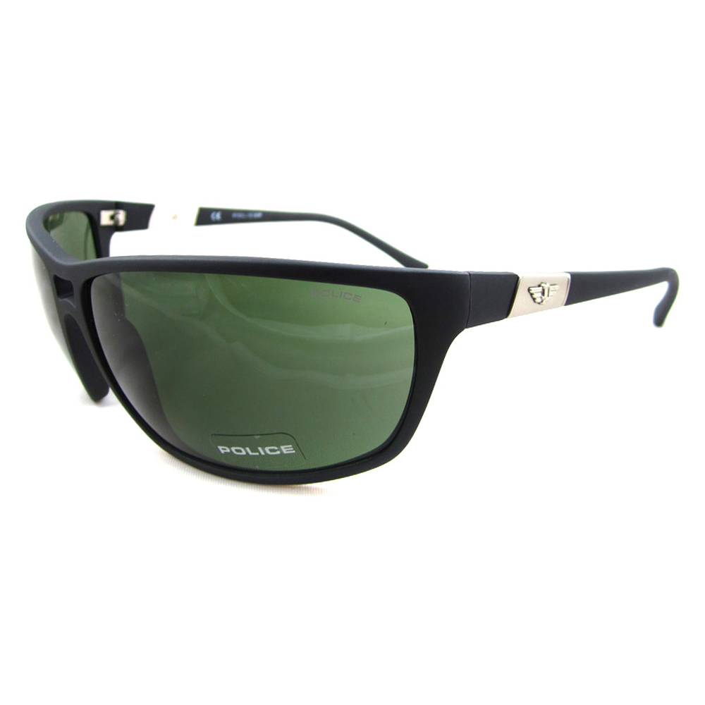 Cheap Police Sunglasses 1716 U28v Matt Black Green Discounted Sunglasses