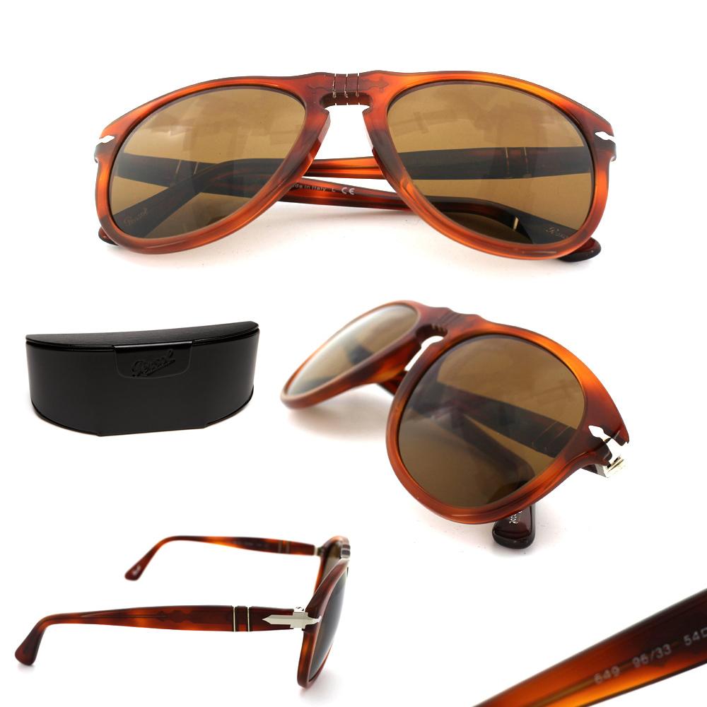 Persol Gafas de sol 0649 96/33 Claro Marrón Habano | eBay