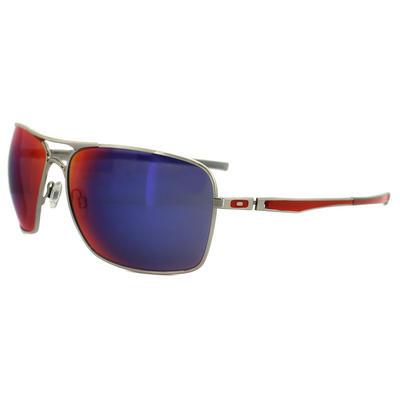ca794038e2 Oakley Sunglasses Plaintiff Squared 4063-07 Polished Chrome Positive Red  Iridium