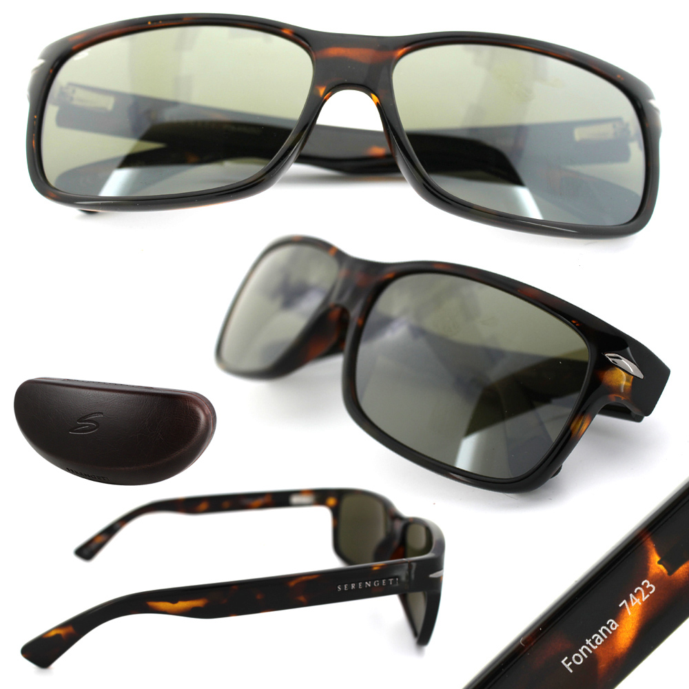 e558c2d439dc ... Serengeti Sunglasses Fontana 7423 Dark Tortoise Grey Green Polarized  555nm Thumbnail 2 ...