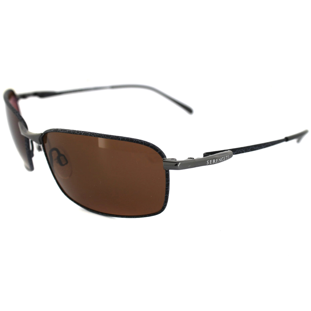291afd74240 Sentinel Serengeti Sunglasses Sorrento 7553 Gunmetal Tannery Drivers Brown  Polarized