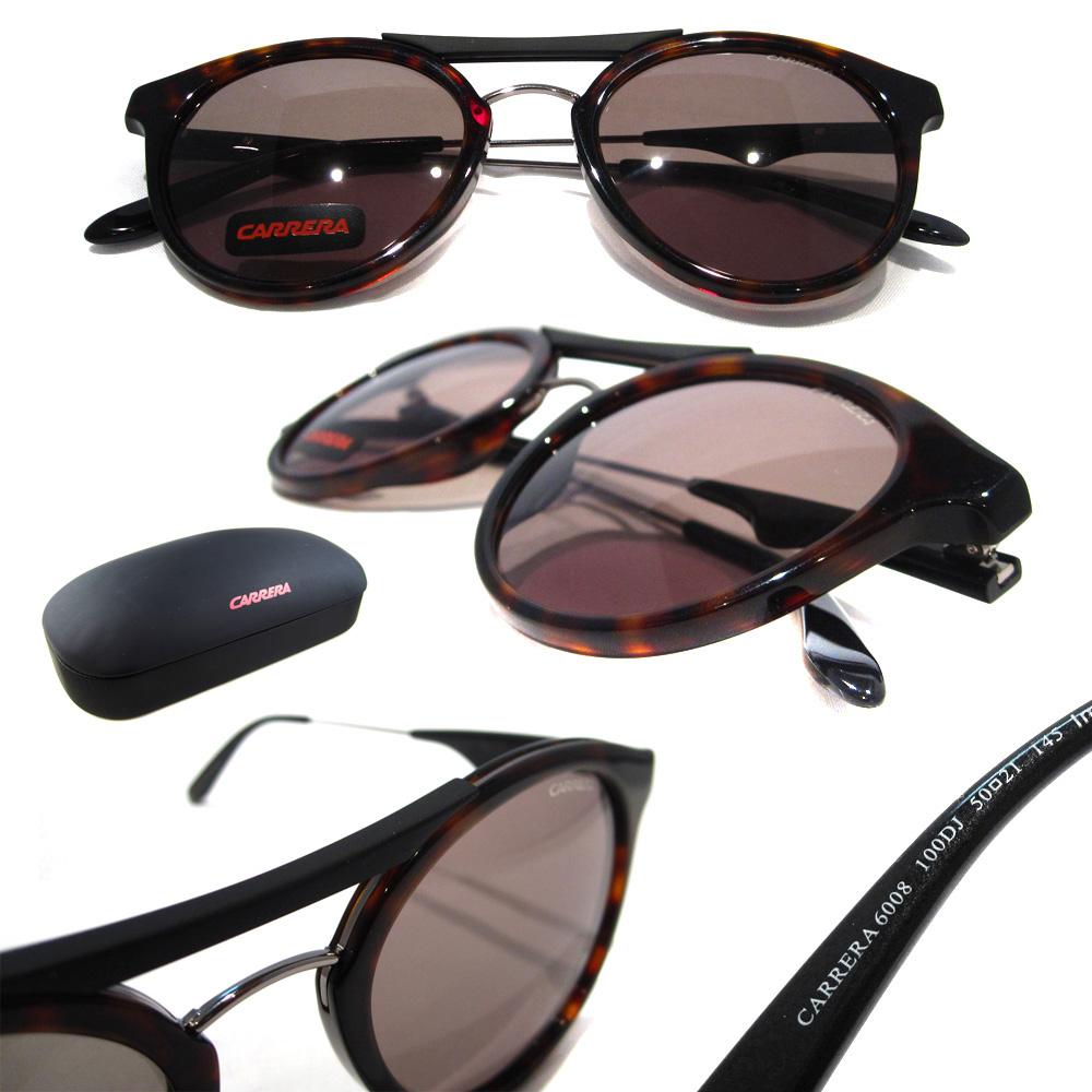 08309346de00d Sentinel Carrera Sunglasses Carrera 6008 100 DJ Havana Ruthenium Green
