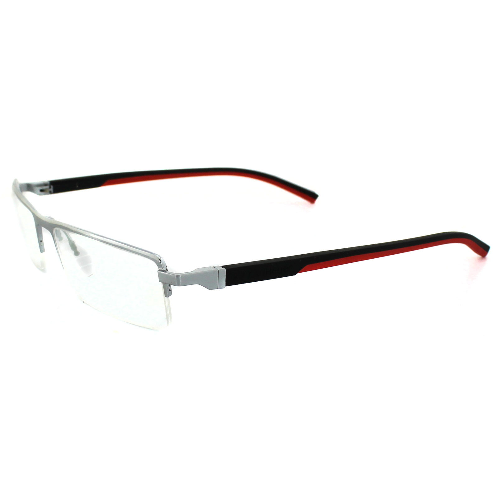 Tag Heuer Glasses Automatic 0822 002 Pure Frame Black & Red Temples ...
