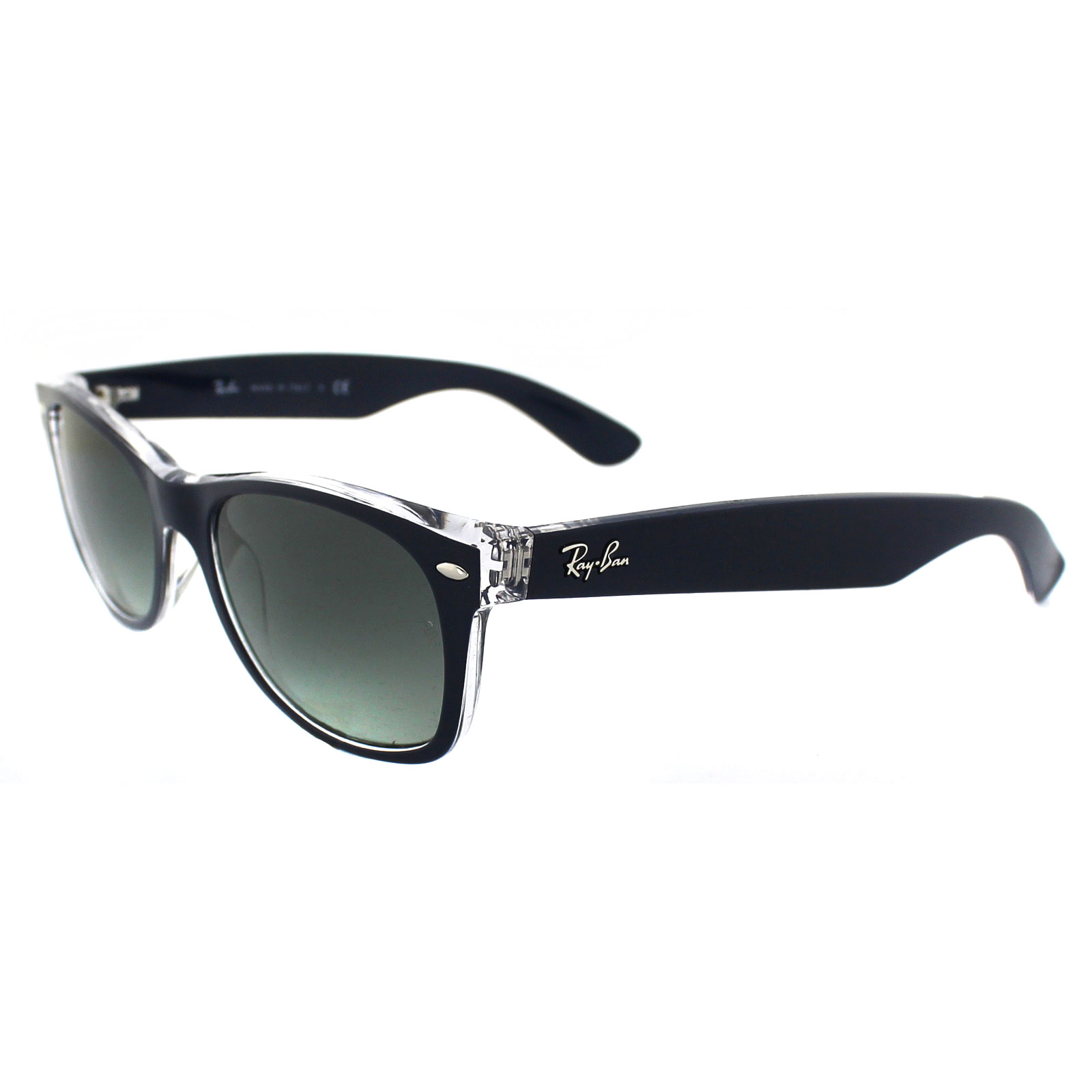 fa9e8b2f109 Sentinel Ray-Ban Sunglasses New Wayfarer 2132 605371 Blue Transparent Grey  Gradient Small