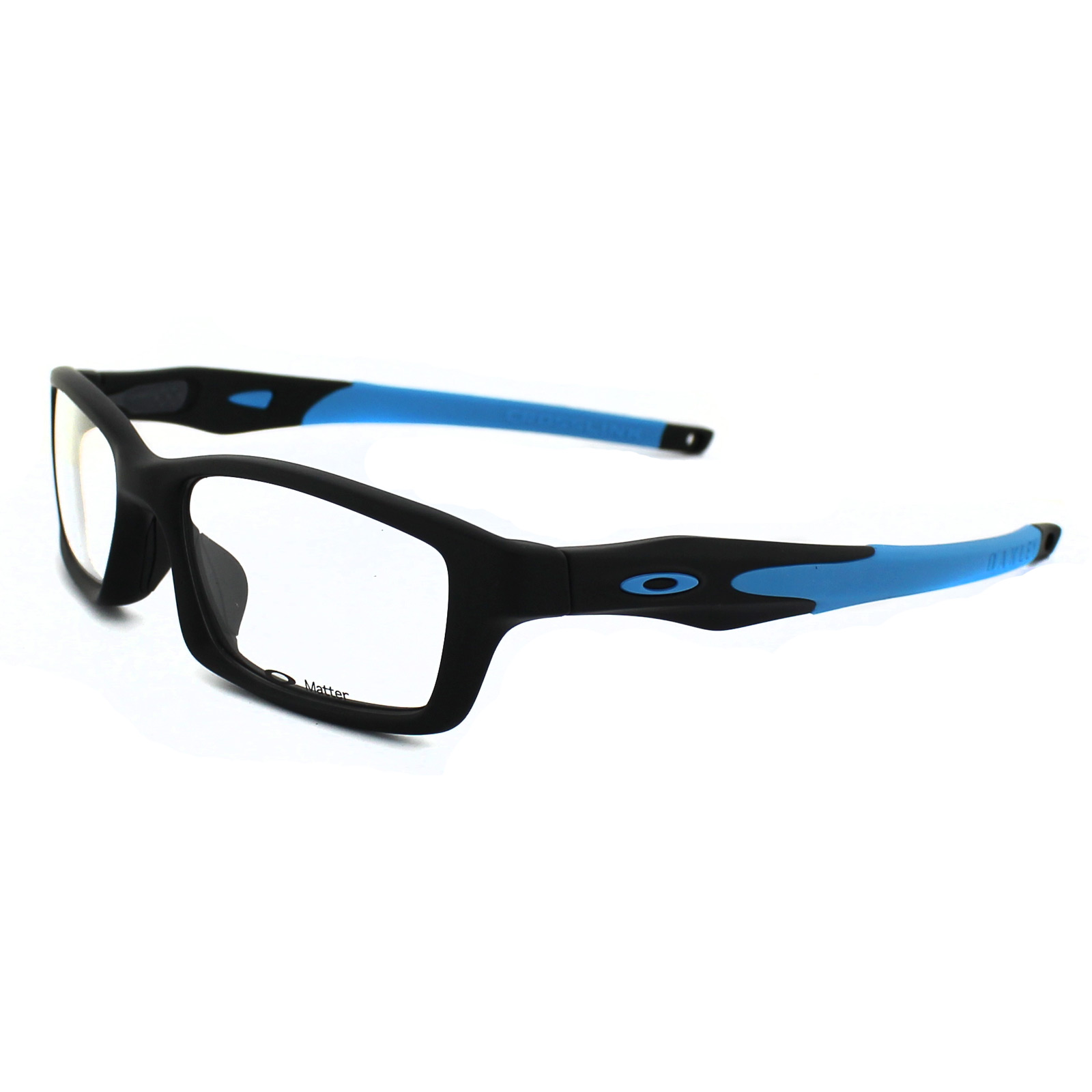 Oakley Glasses Frames Crosslink 8027-01 Satin Black & Sky Blue ...
