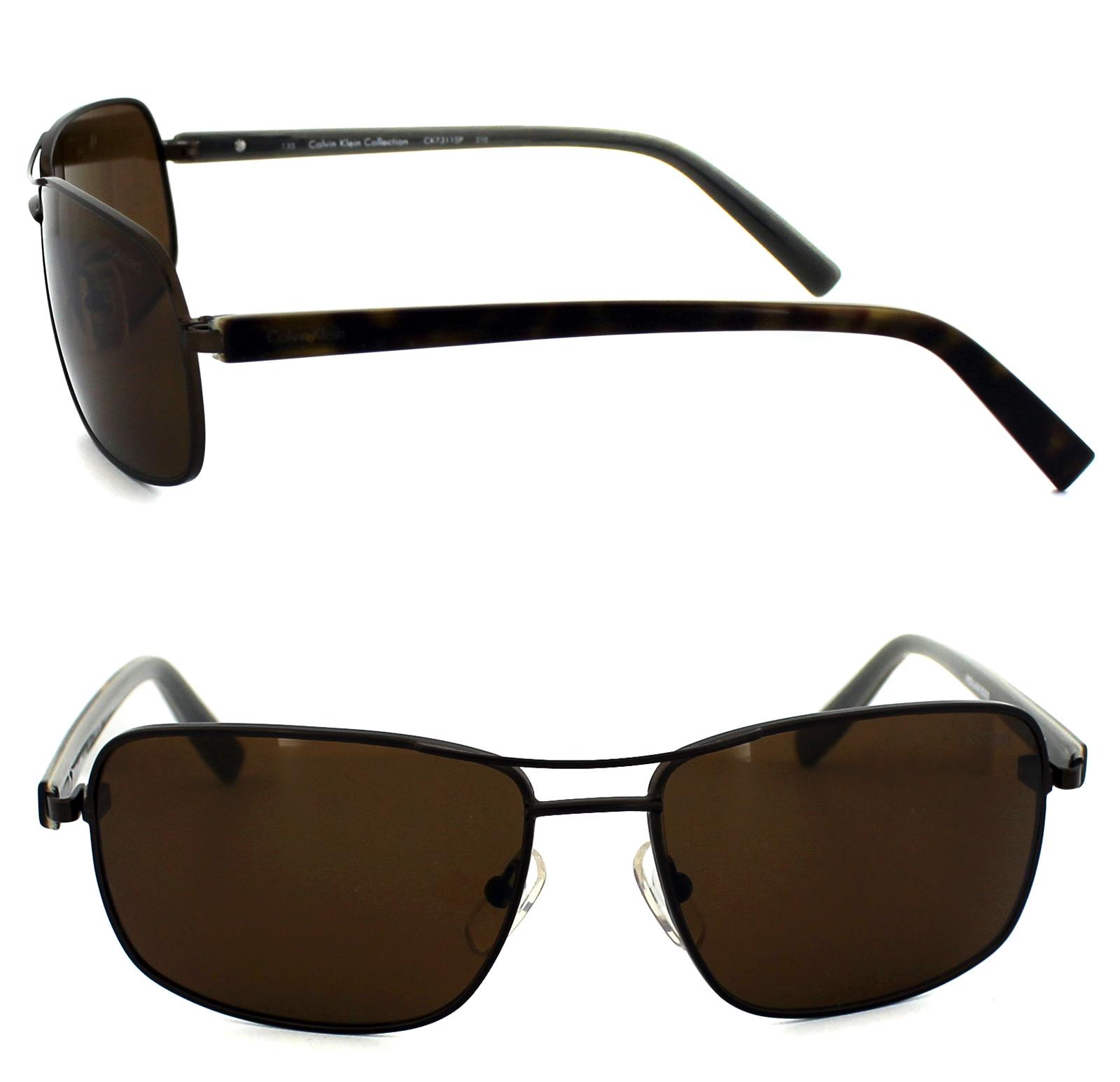 4c43280a01 Sentinel Calvin Klein Sunglasses 7311SP 210 Brown   Havana Brown Polarized