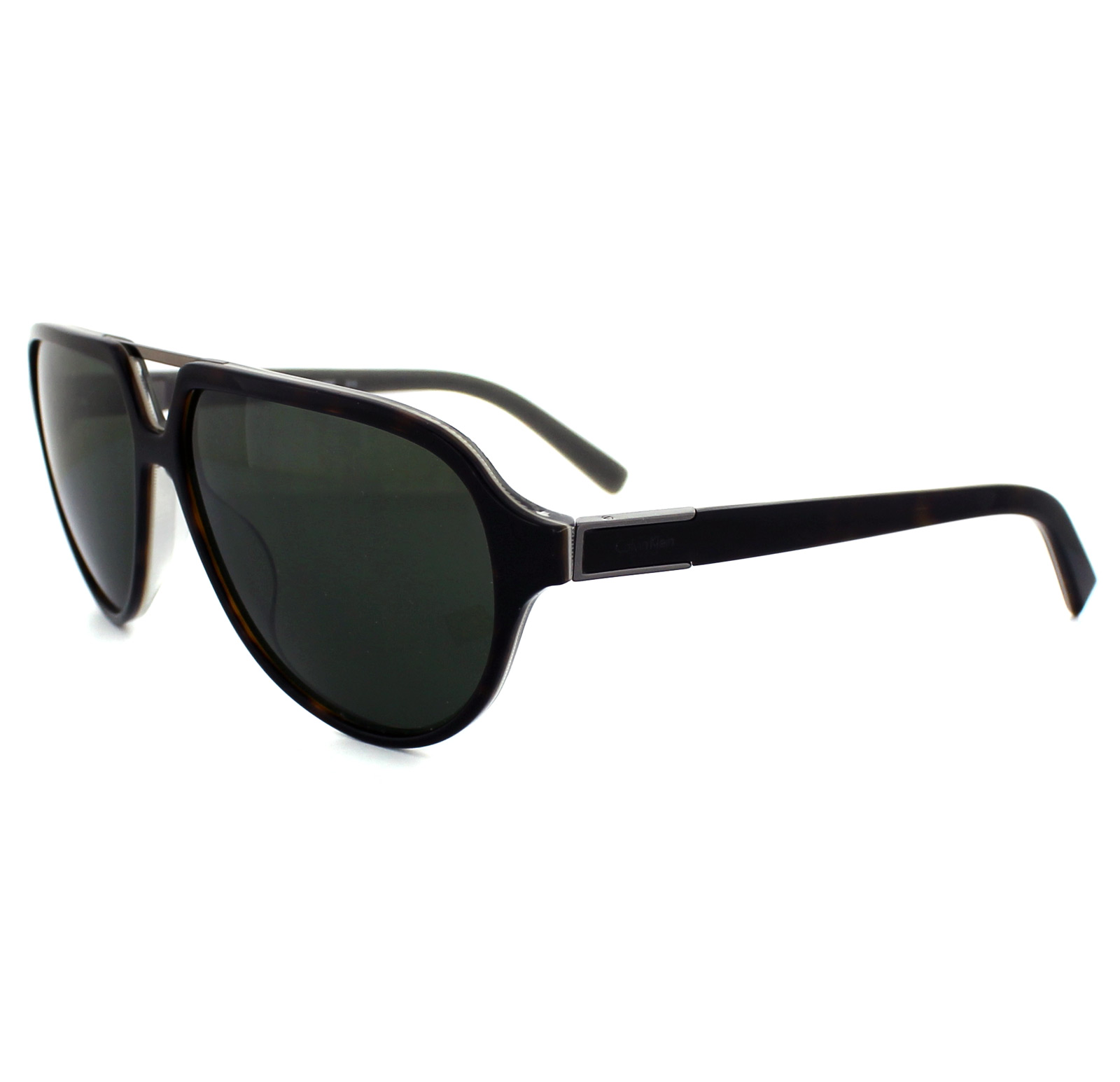 Calvin Klein Sunglasses 7858SP 214 Havana Grey Green Polarized 750779039465 | eBay
