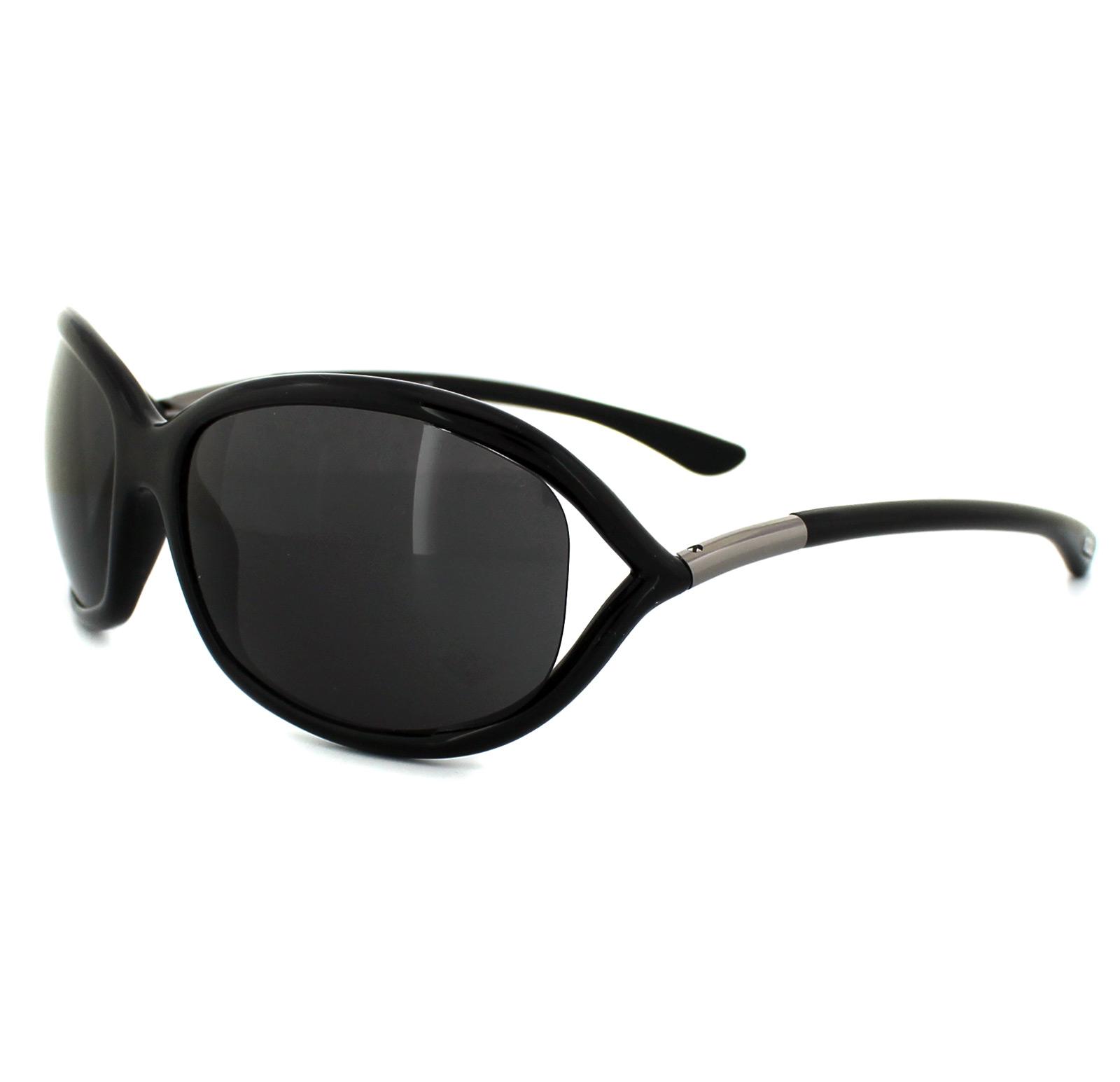 84c92b45072 Sentinel Tom Ford Sunglasses 0008 Jennifer 199 Shiny Black Smoke Grey
