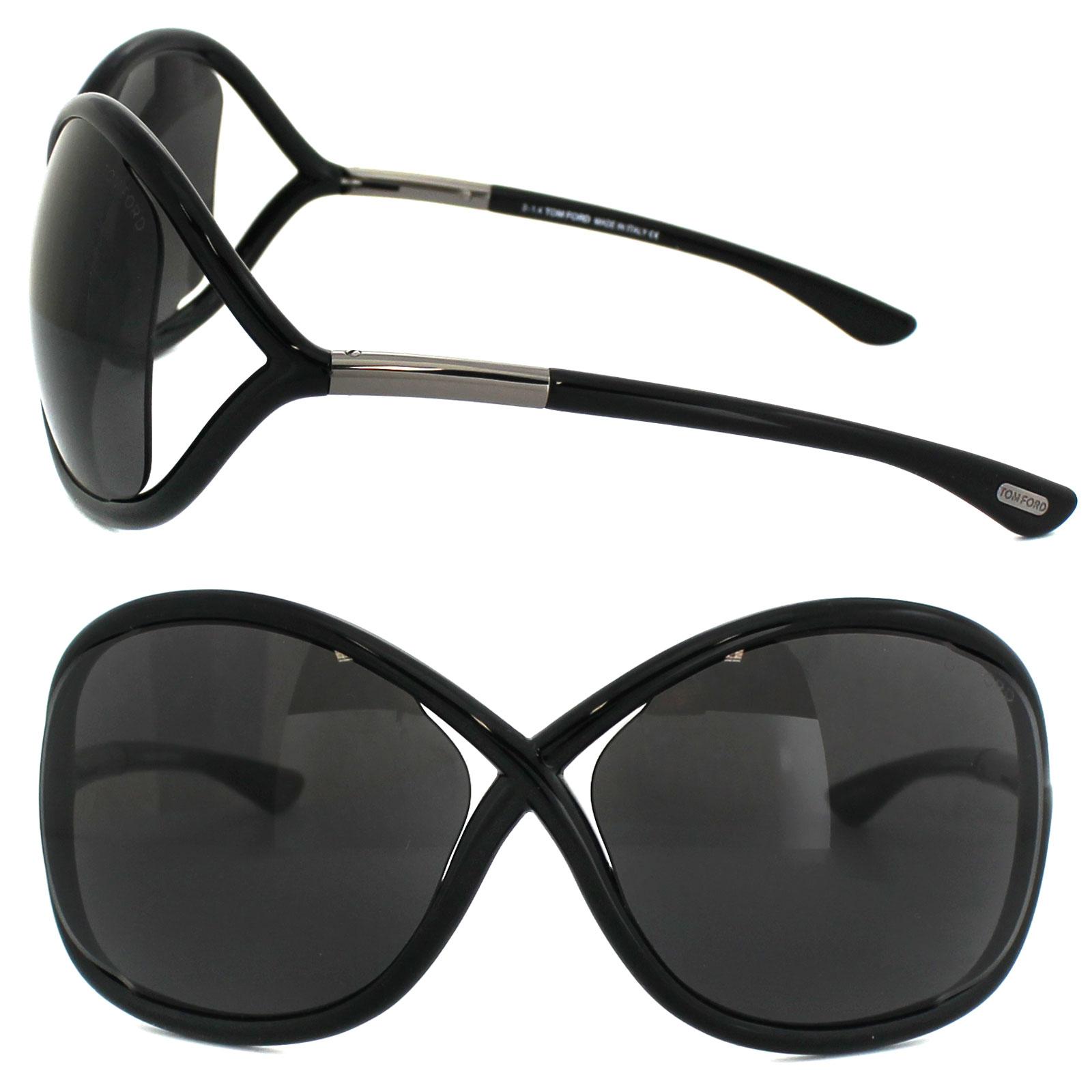 8aad5e21b2e Sentinel Tom Ford Sunglasses 0009 Whitney 199 Shiny Black Smoke Grey
