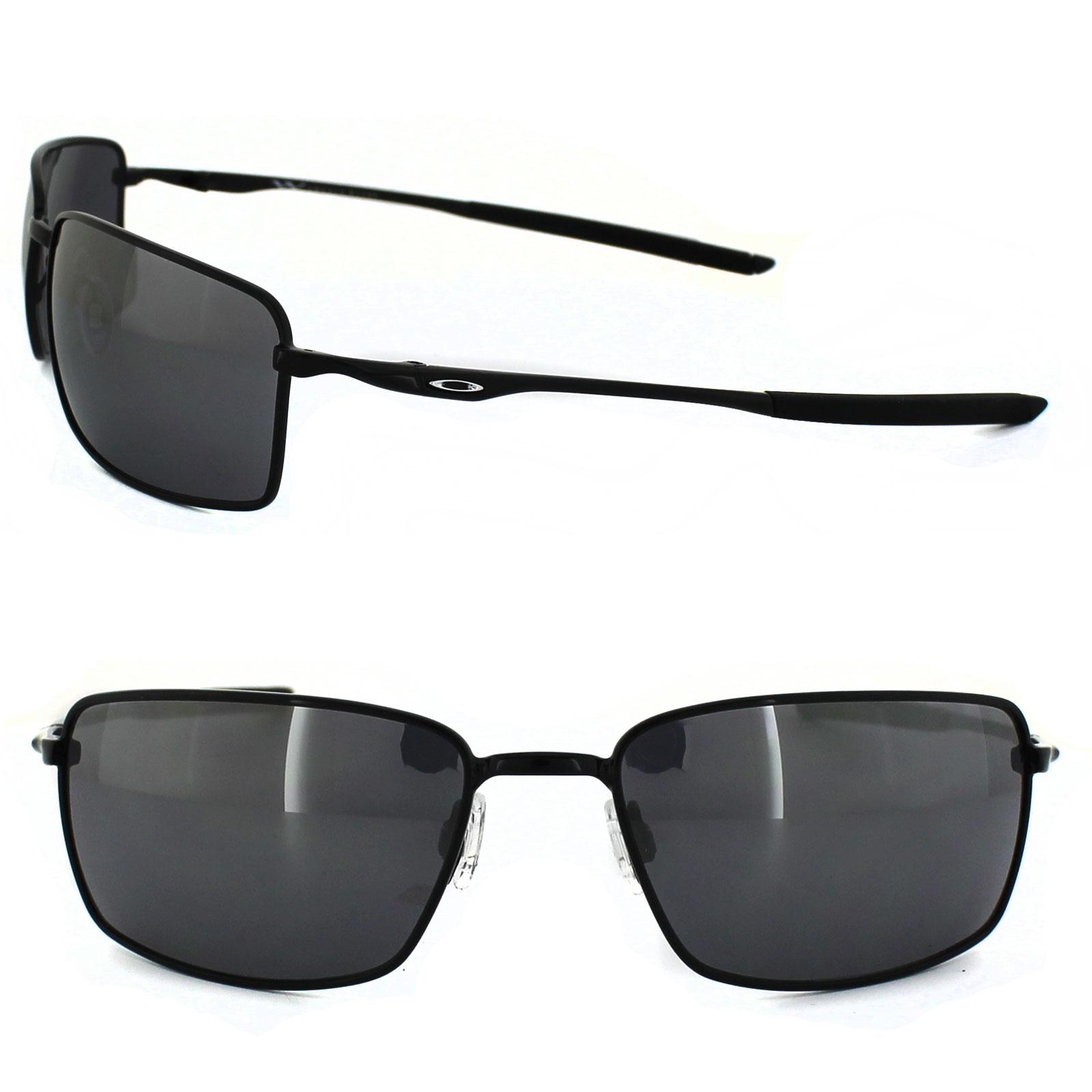 578744ec04 Sentinel Oakley Sunglasses Square Wire OO4075-01 Polished Black Black  Iridium