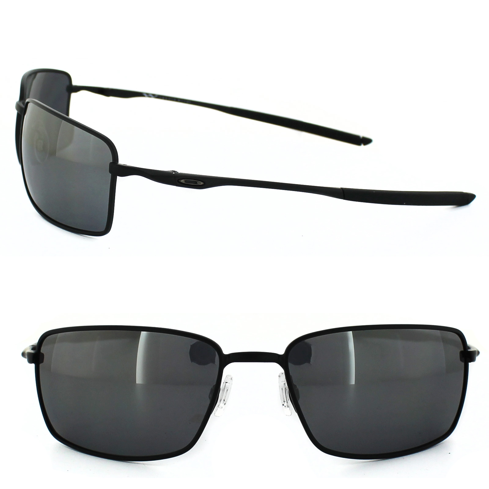 1c4a23af87 Sentinel Oakley Sunglasses Square Wire OO4075-05 Matt Black Black Iridium  Polarized