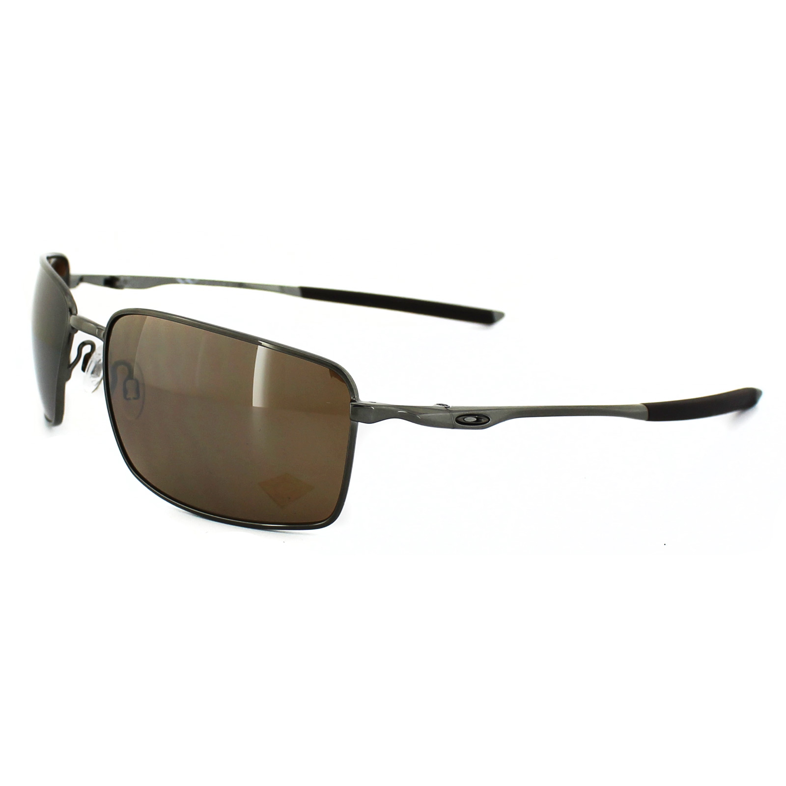 8b73eb98a52 Sentinel Oakley Sunglasses Square Wire OO4075-06 Tungsten Tungsten Iridium  Polarized