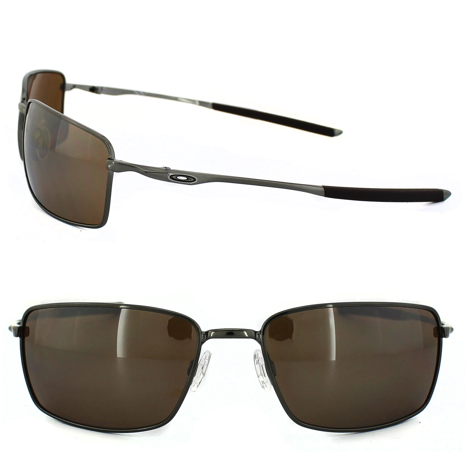27b2427f51 Sentinel Oakley Sunglasses Square Wire OO4075-06 Tungsten Tungsten Iridium  Polarized