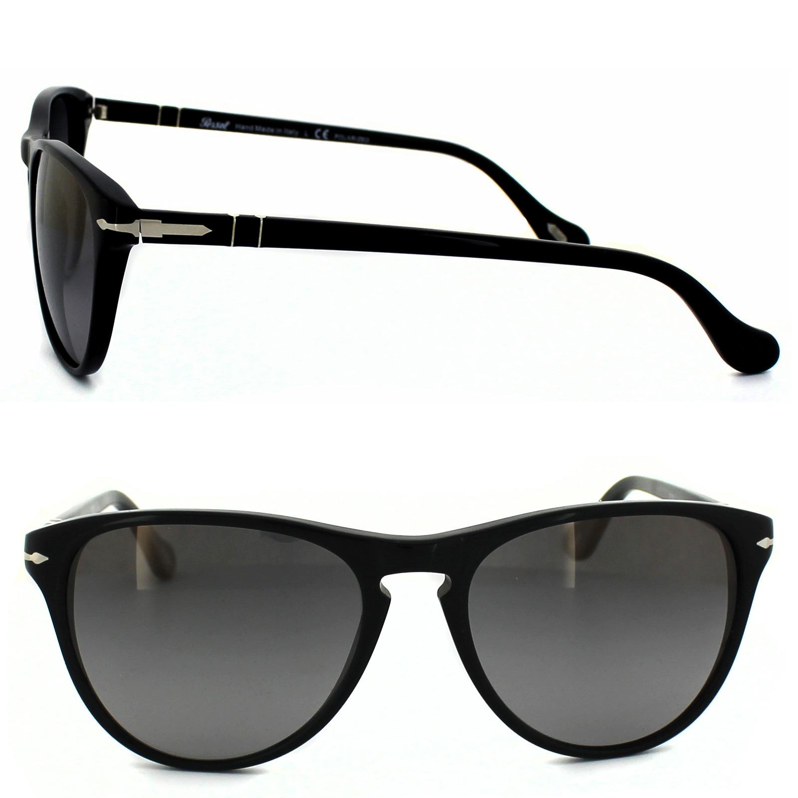 f1d42a227e7a5 Sentinel Persol Sunglasses 3038 95 M3 Black Polarized Gradient Grey