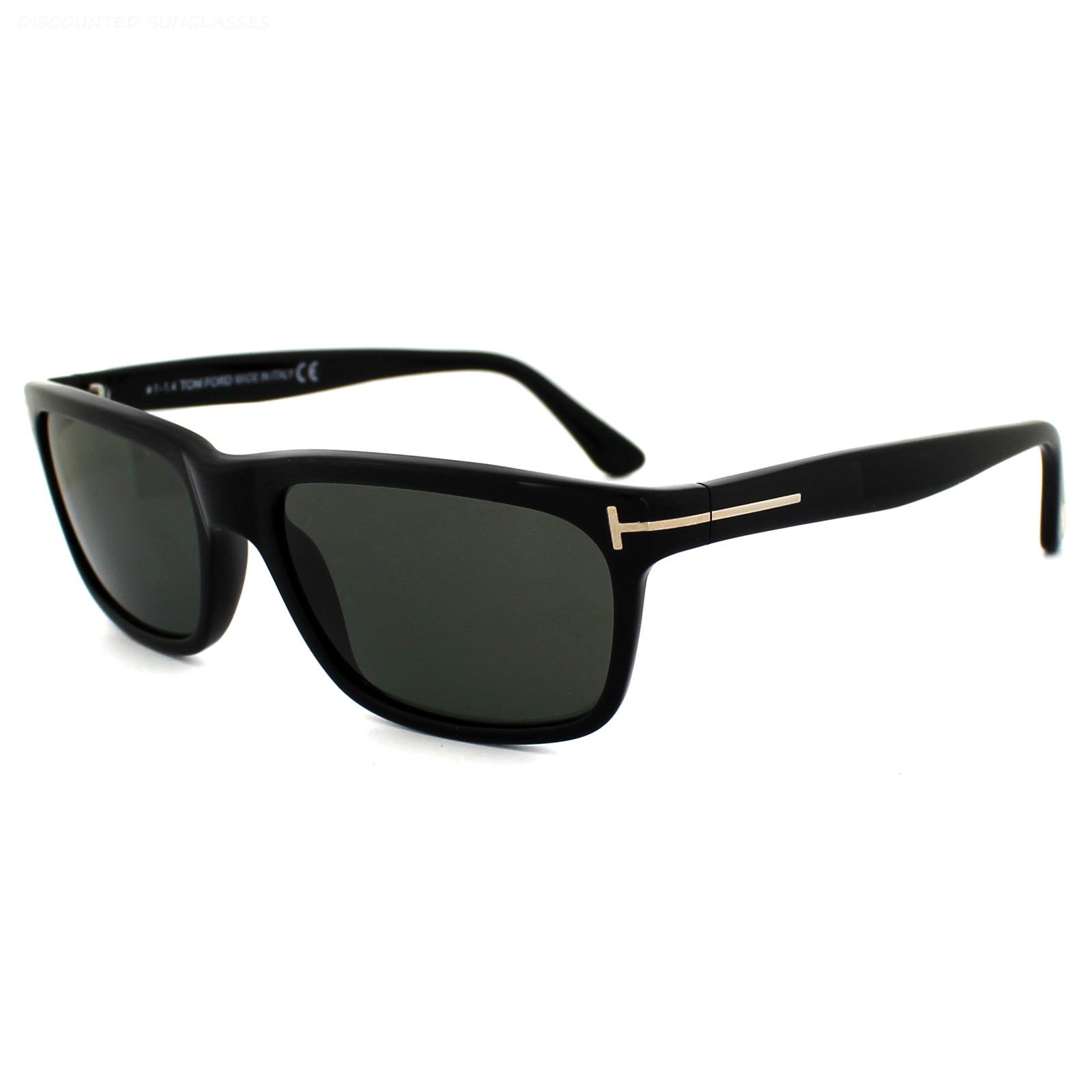 39b268967f Sentinel Tom Ford Sunglasses 0337 Hugh 01N Shiny Black Green Polarized