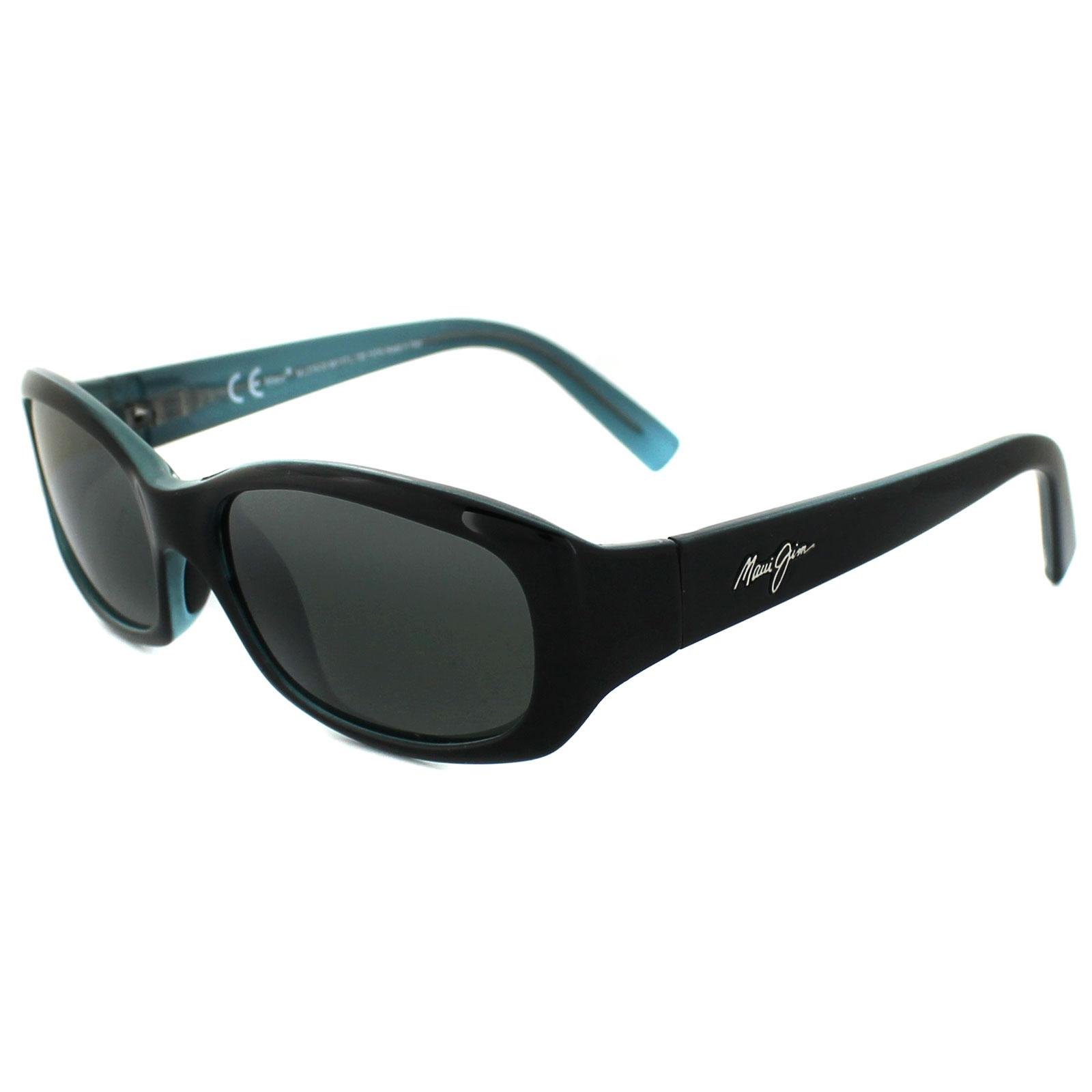 8f536ae168 Sentinel Maui Jim Sunglasses Punchbowl 219-03 Black with Blue Neutral Grey  Polarized
