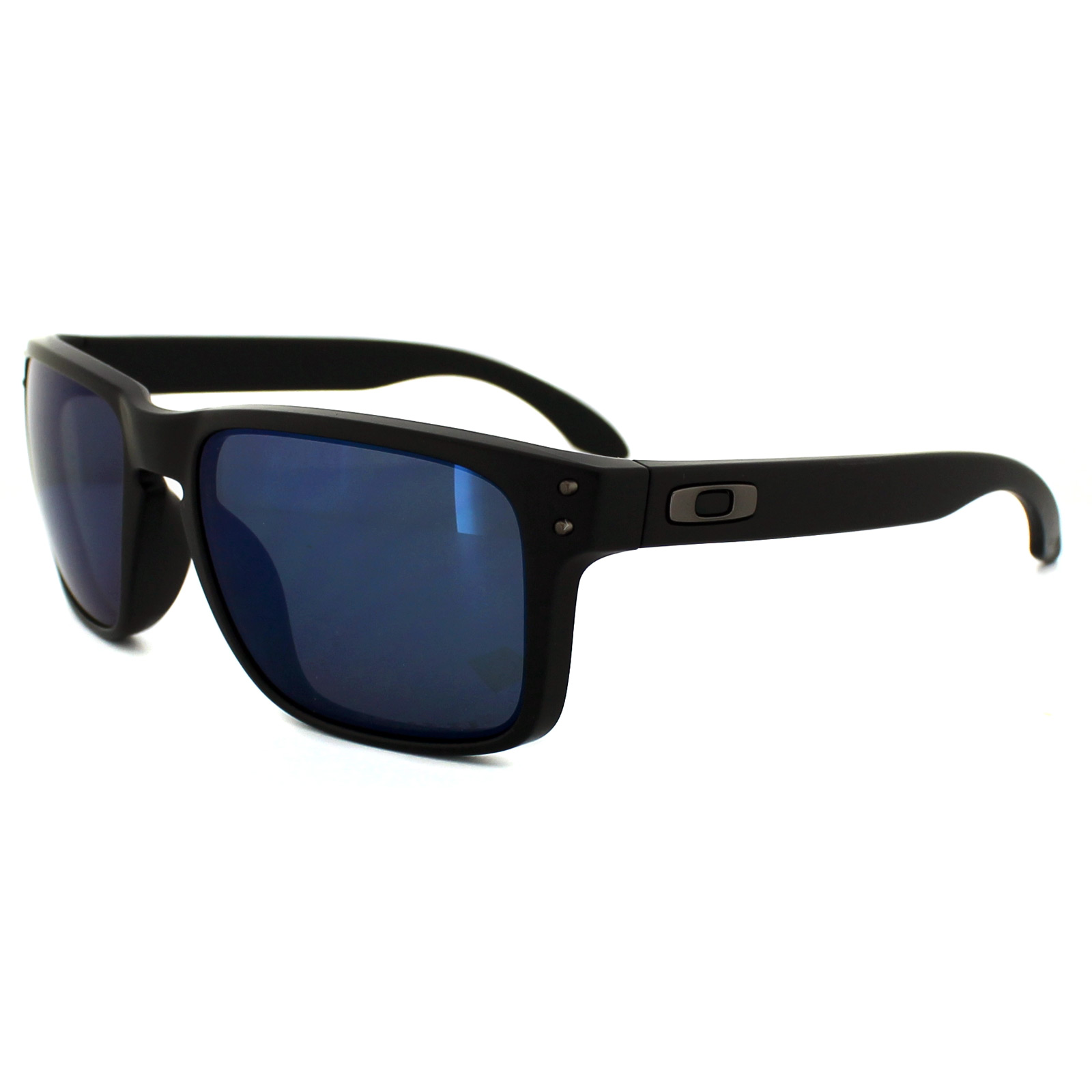 bf06431a82 Details about Oakley Sunglasses Holbrook OO9102-52 Matte Black Ice Iridium  Polarized