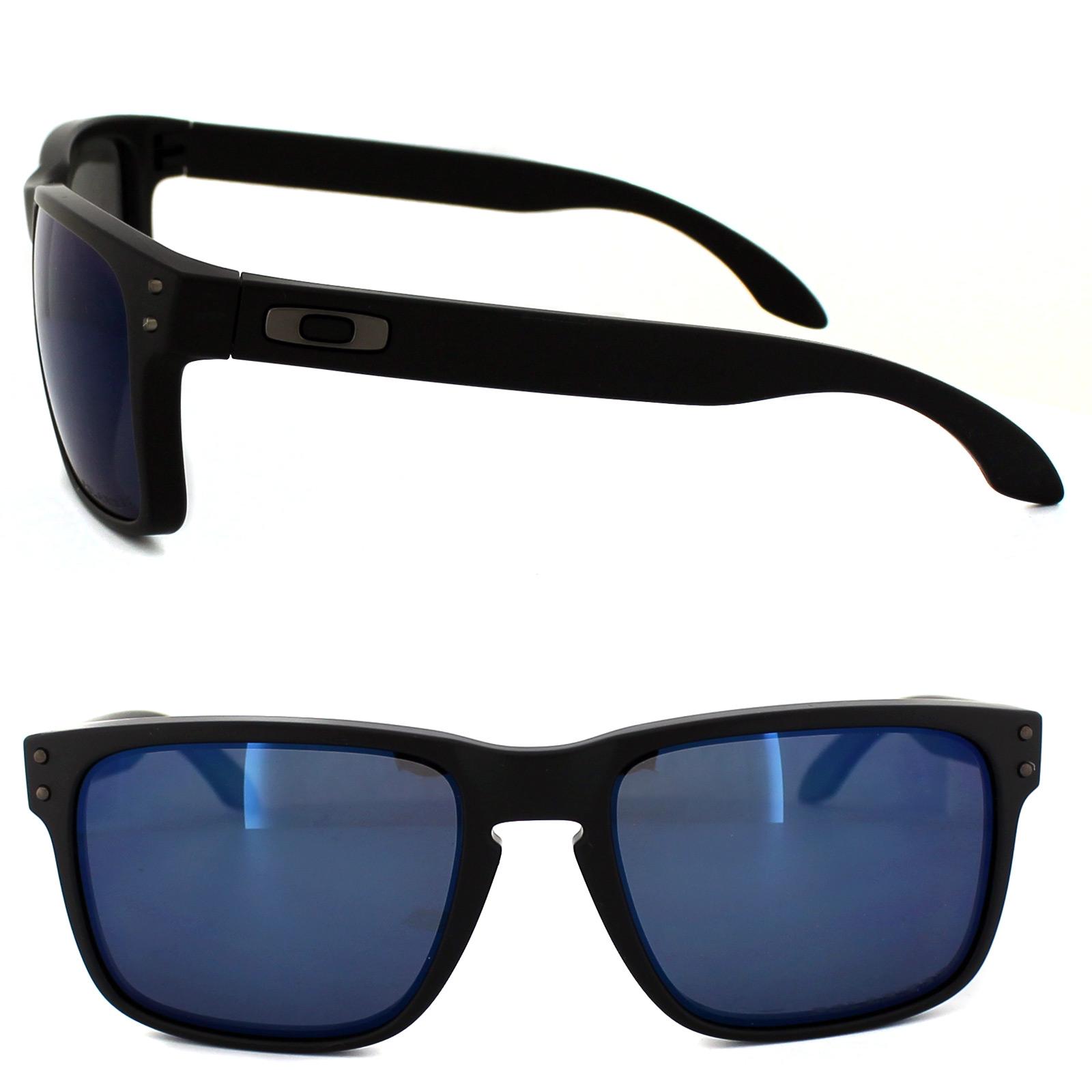 Sentinel Oakley Sunglasses Holbrook OO9102-52 Matte Black Ice Iridium  Polarized 4686ef2c33