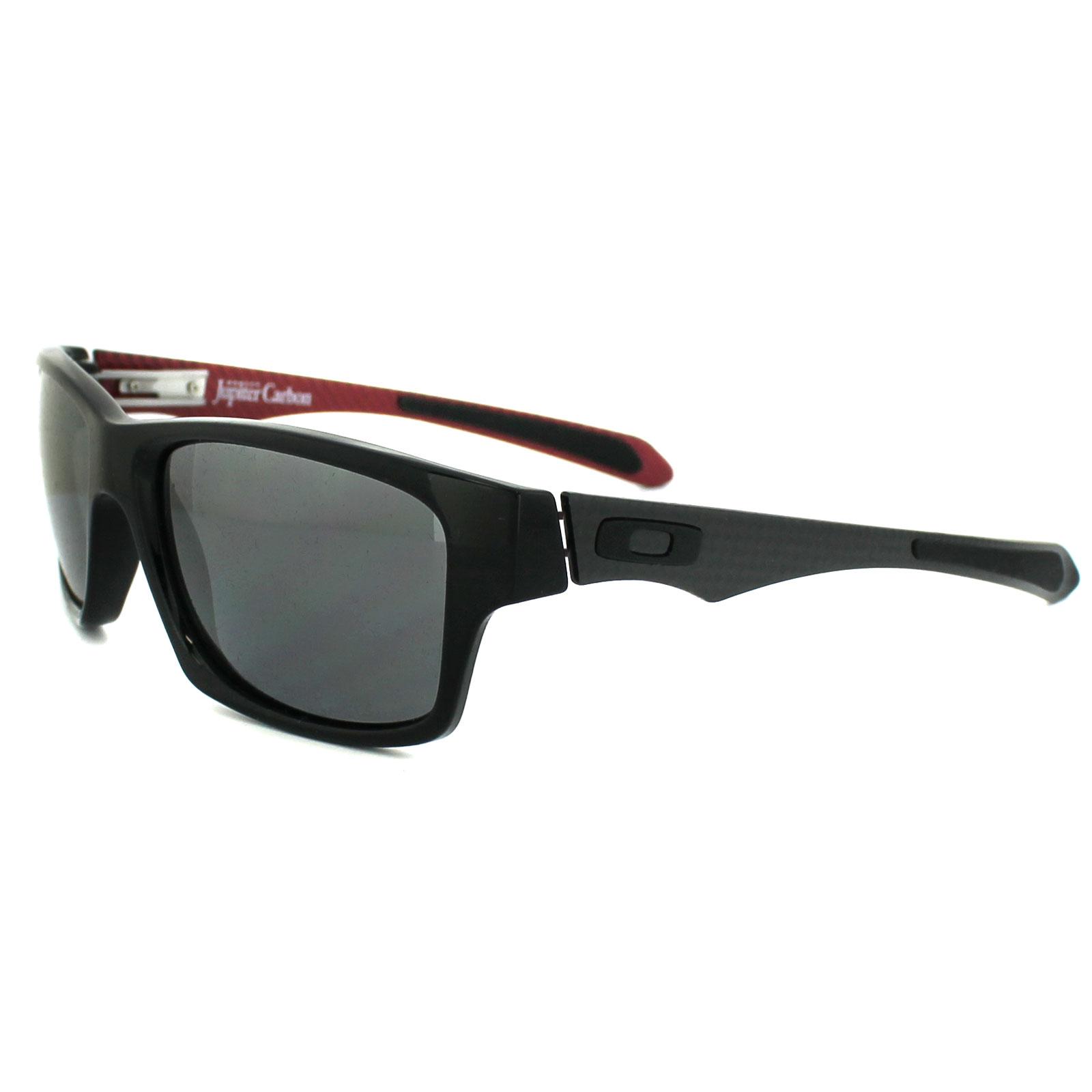 911eb44f41 Sentinel Oakley Sunglasses Jupiter Carbon 9220-01 Polished Black Black  Iridium Polarized