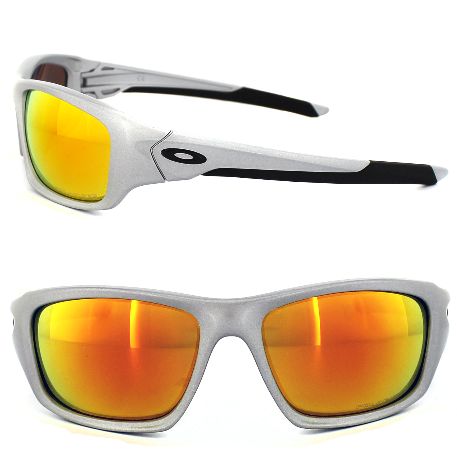 503111f5b9 Sentinel Oakley Sunglasses Valve OO9236-07 Silver Fire Iridium Polarized